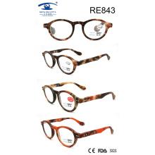 Moda Round Frame Matte Women Óculos de leitura de alta qualidade (RE843)