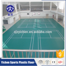 interlocking plastic floor tiles carpet pvc badminton covering sheet
