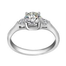 Jóia inoxidável do anel de casamento do casal da forma da estrela