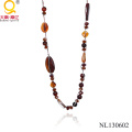 Agate Beaded Necklace Imitation Jewelry