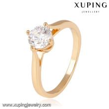 14044- Xuping Jóias Moda 18K Banhado A Ouro Anéis De Casamento