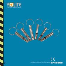 Matel Whistle Aufhänger, Matel Whistle Keychain, hohe Qualität Matel Whistle Dekoration