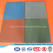 Rubber Floor Tile For Outdoor Basketball Playground