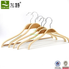 natural color space saving  thin plywood coat hangers