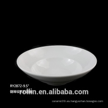 Porcelana en forma de cuenco redondo sopa profunda cuencos 375ml
