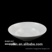 Bol en porcelaine en forme de rondes bols de soupe profonde 375ml