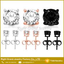 Zircone boucles d'oreilles en acier inoxydable 316L Stud Piercing Studs
