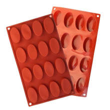 Amazon Vendor Silicone Oval Biscuit Chocolate Molde 16 Cavidades