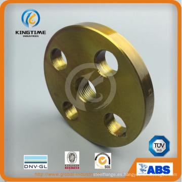 Brida forjada de los rebordes roscados del acero de carbono de la instalación de tuberías (KT0404)