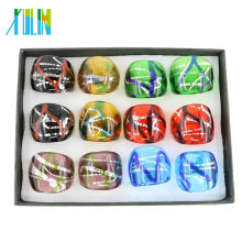 Exquisite Mix Color Lampwork Murano Glass Rings 12pcs/box, MC1015