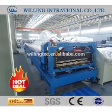 2016 Hochwertige verglaste Metalldachziegelwalzenformmaschine