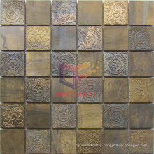 Copper with Flower Pattern Metal Mosaic (CFM932)