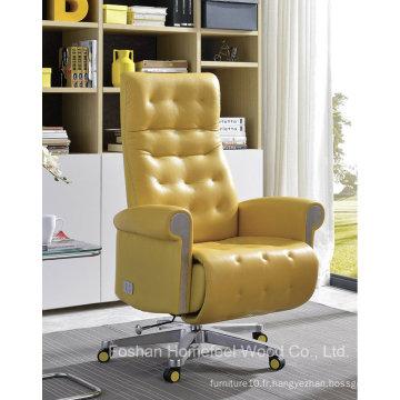 Chaise inclinable en cuir électrique de haute qualité pour bureau (HF-GN1605D)