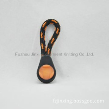 Fashion design injection zipper puller with inserted color cord