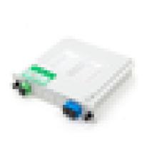 1x2 SC UPC insert type fiber PLC splitter,mini tube plc splitter