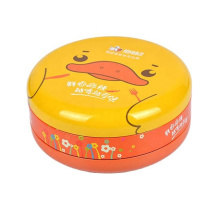 Food grade fancy empty colorful small round mint metal gift tin can tin box tin case
