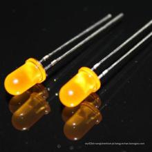 Venda quente 3mm 5 milímetros amarelo redondo / branco quente diodo LED