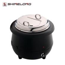 Caldera de sopa eléctrica 10L de la venta caliente C105 con la tapa del acero inoxidable