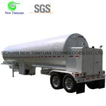 Dioxyde de soufre liquéfié 21m3 Volume Container Tank Semi Semi-remorque