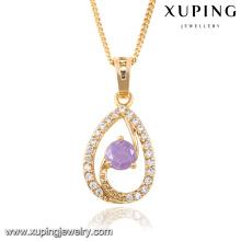 32666-Xuping Jewelry fashion Elegante colgante chapado en oro de 18 quilates