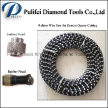 11mm Diamond Bead Rubber Sintered Wire Saw Cutting Granite Quarry