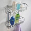 Wall Mounted Stainless Steel Bathroom Corner Shower Towel Rack Shelf