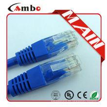 Cable azul del remiendo del código de color del color cat6