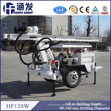 Depth 120m Quality Ensure New Multi-Function Lightweight Compact Hf120W Water Well Drilling Rig Price