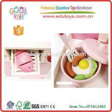 Juguetes de madera de fresa encantadora Juguetes de cocina para niños