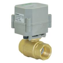 2 vías 1/2 pulgadas de drenaje automático de latón válvula de control eléctrico de drenaje válvula de bola