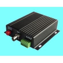 Transceptor de fibra óptica de 1 canal de video y datos reversa