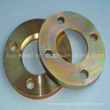 Plaque de galvanisation colorée / bride plate