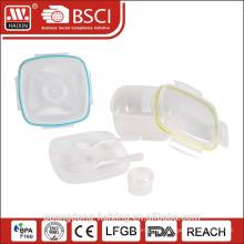 3 compartimento estanque do silicone plástico caçoa o almoço caixa com fechadura