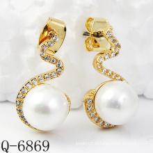 Neueste Styles Perlen Ohrringe 925 Silber (Q-6869)
