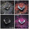 El tamaño mixto macizo del brillo holográfico PET ecológico brilla para las artesanías de uñas de cuerpo de cara