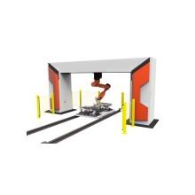 Máquina de corte a laser de fibra de robô 3D