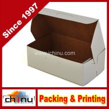 Caja de panadería de esquina blanca Kraft Paperboard White Non Window (130098)
