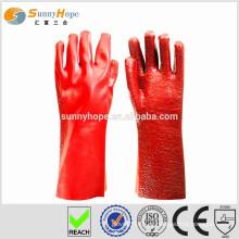 Luvas revestidas de PVC resistente
