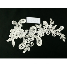 Heißer Verkaufs-eleganter Stickereispitzegewebe für Hochzeitskleidfabrik