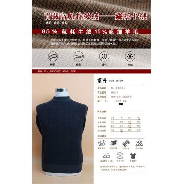 Yak lã / cashmere em torno do pescoço camisola de manga comprida / vestuário / vestuário / malhas