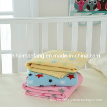 100%Polyester Polar Fleece Baby Blanket /Travel Picnic Fleece Blanket