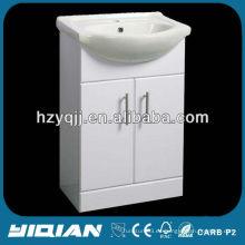 Piso caliente de la venta del piso que brilla blanco E1 Grado Unidad de la vanidad del cuarto de baño del MDF