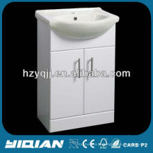 Hot Sale Floor Standing Gloss White E1 grade MDF banheiro Vanity Unit