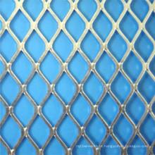 Rede de arame expandida diamante plana para decoração