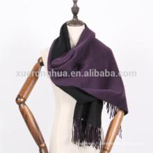 Cachemire écharpe d'hiver épais couleurs réversibles écharpe châle
