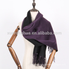 winter thick cashmere reversible colors scarf shawl