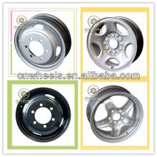 Nueva utilidad ruedas de acero de 16x5.5 para camiones ligeros