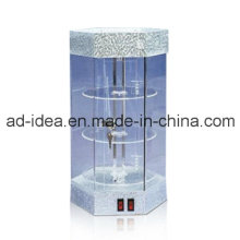 Suporte acrílico de três camadas redondas / exposição para jóias