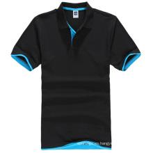 últimas camisas lisas de la venta caliente de la camiseta del polo de los hombres llanos