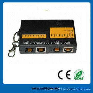 Mini testeur de câble réseau RJ45 / Rj11 (ST-CT4682B)